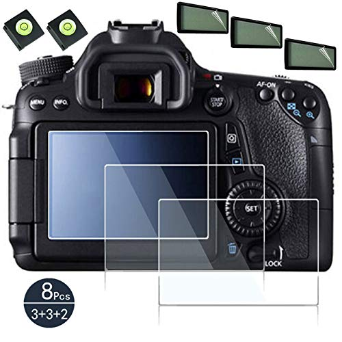 Glass Screen Protector Compatible for Canon EOS 90d 80d 70d Digital SLR Camera,debous Anti-scratch Tempered Glass Clera Hard Protective Film Shield Cover Guard Pet shoulder screen protector include (3