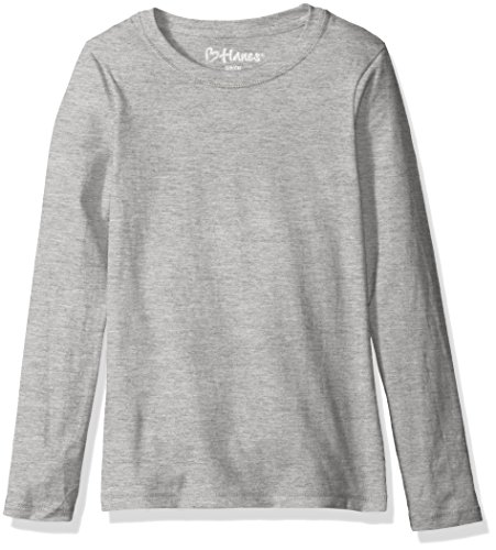 Hanes Long Sleeve Tee - Hanes Big Girls' Comfortsoft Long Sleeve Tee, Light Steel, L