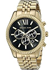 Michael Kors Mens Lexington Gold-Tone Watch MK8286