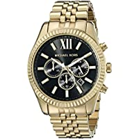 Michael Kors Watches Lexington Reloj, Estándar, Dorado