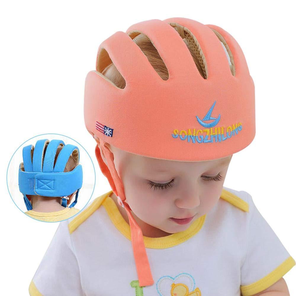 Casco de seguridad para beb/é con gorra de protecci/ón ajustable para la cabeza del beb/é beige beige Fewao