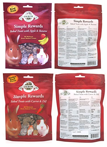 Oxbow Simple Rewards All Natural Oven Baked Treats for Rabbit, Guinea Pigs, Hamsters, and Other Small Animals Variety Pack - 6 Flavors by Oxbow Animal Health (Image #3)