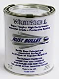 Rust Bullet WSP WhiteShell Rust Preventative and Protective Coating Paint, 1 Pint Metal Can, Gloss White