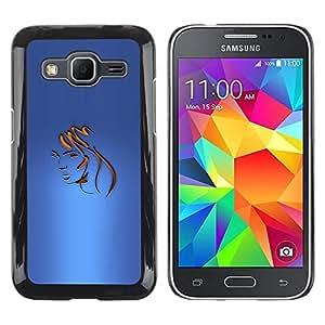 Be Good Phone Accessory // Dura Cáscara cubierta Protectora Caso Carcasa Funda de Protección para Samsung Galaxy Core Prime SM-G360 // Tones Hair Barber Gold Face