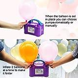 IDAODAN Electric Air Balloon Pump, Portable Dual