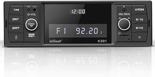 Iegeek Bluetooth Autoradio Rds Mp3 Fm Am Sd Aux Elektronik