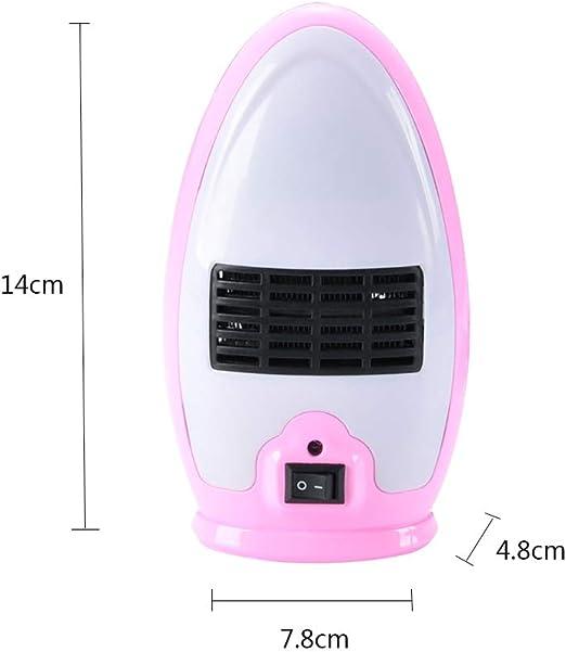 ANKIKI PTC 200W Mini Calefactor,Ahorro Energía Multifunción Portátil Ventilador Calefactor,Sala Estar Dormitorio Oficina Mesa Uso,Rosado: Amazon.es: Hogar