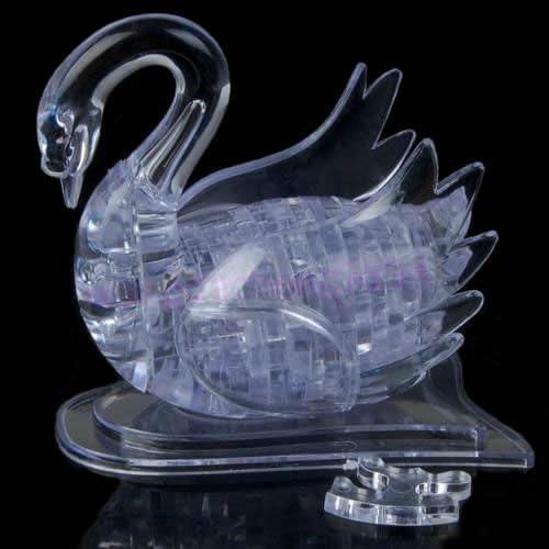 3D DIY Crystal Puzzle Jigsaw Model Swan IQ Toy Furnish Gadget Souptoy Gift