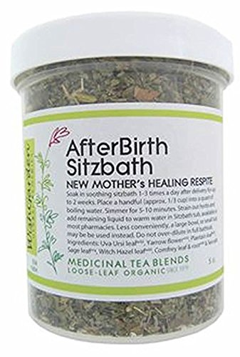 WishGarden Herbs - AfterBirth Sitzbath, New Mother's Healing Respite, Organic Herbal Tincture, Post-Birth Soother (3.5 oz)
