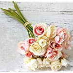 Mistari-18-Heads-Plastic-Artificial-Flowers-Roses-Fake-Silk-Flowers-Home-Decorative-Party-Wedding-Light-Pink