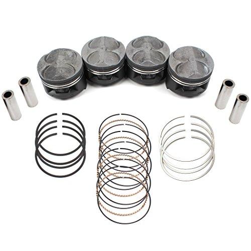 (New RY6784HP-STD 81mm (STD Size) High Performance Pistons w/ Rings Set for JDM Honda Civic Type-R B16B CTR Si B16A B16A2 B16A3 Del Sol 1.6L V-Tec Engine)