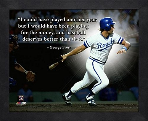 George Brett 8x10 Framed Photo ProQuote - Licensed MLB - George Photo Framed Brett
