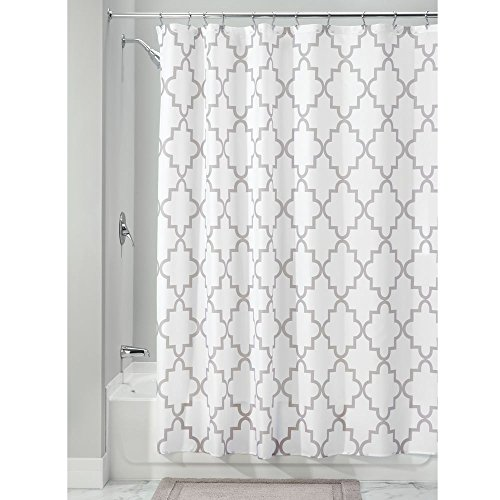 InterDesign Moroccan Trellis Fabric Shower Curtain, 72