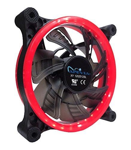 Ventilador APEVIA 12L-CRD 120mm Silent Dual Rings Red LED Fa