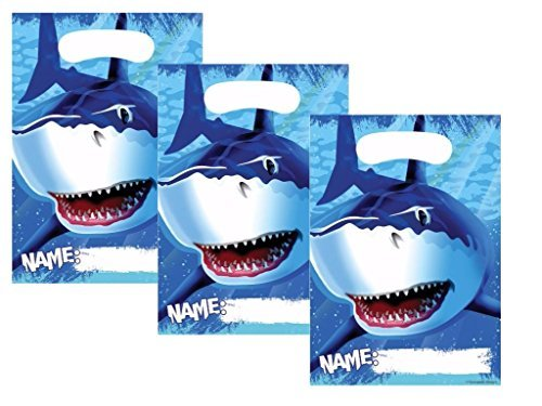 Creative Converting, inc., Cool Shark Splash Birthday Party Favor Bags 24 Guests ()