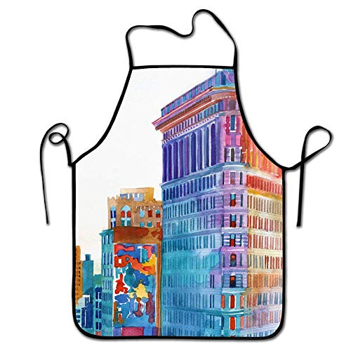 FEDDIY Professional New York City Apron for Men & Women Perfect for Cooking BBQ Baking