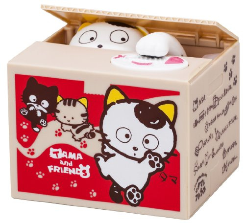 Itazura Coin Bank Tama and Friends edition (Red) by Takara Tomy by Takara Tomy