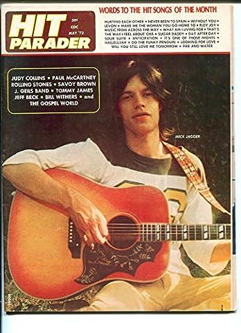 Hit Parader 5/1972-Mick Jagger cover-Jeff Beck-J Geils Band-Tommy James-P/FR - Mick Jagger Band