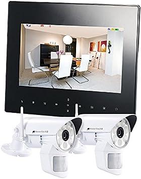 HD Funk Video IP Überwachungssystem LED Videoüberwachung mit Monitor mit Akku