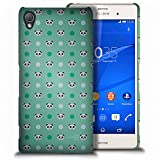 Xperia Z3V Case, CoverON for Sony Xperia Z3V Hard Case Slim Fit Back Cover (Will Not Fit Z3 or Z3 Compact) - Teal Panda Polka Dot Design