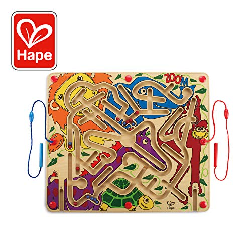 Abc Zoo Alphabet Puzzle - Award Winning Hape Zoo'm Kid's Magnetic Wooden Bead Maze Puzzle