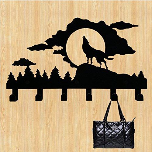 ベリーPresident ®クリエイティブメタルClothes Hook / Clothes Hanger /バッグフック/ウォールフック B0114QNM26Wolf Moon