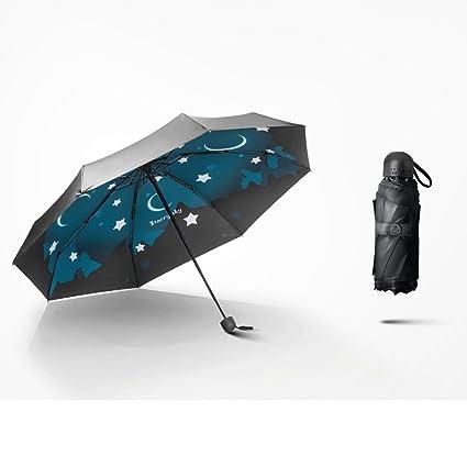 Paraguas Sombrilla para el Sol Sombrilla sombrilla Ultra Ligera Plegable 5 Pliegues QIQIDEDIAN (Diseño :