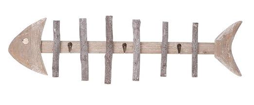 Vintage peces esqueleto de madera montado en la pared ...