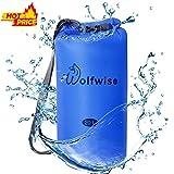 WolfWise 20L 40D Nylon Waterproof Lightweight Dry Sack Dry Bags for Kayaking, Rafting, Boating, Swimming, Camping, Hiking, Beach, Fishing