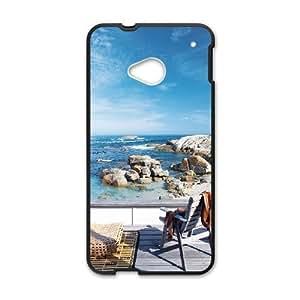 Diy Fantasy Scenery Phone Case for HTC One M7 Black Shell Phone JFLIFE(TM) [Pattern-1]