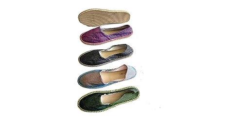 Alpargatas Boda Estampadas Rayas Caja 36 Pares Mujer: Amazon.es: Zapatos y complementos