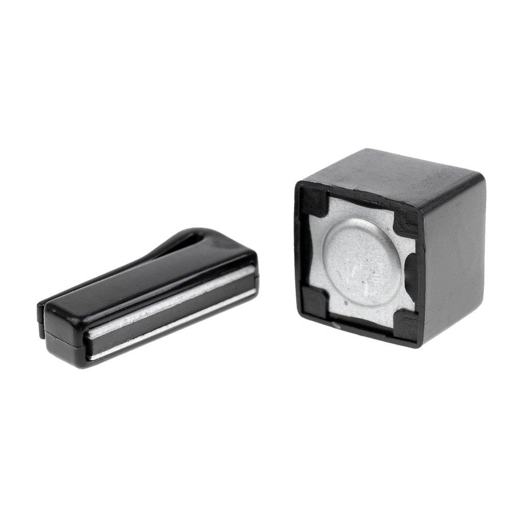 Sharplace Billard-Zubehör magnetischer Pool-Queue-Kreidehalter mit Gürtelclip–Tolles Werkzeug für Billard Liebhaber