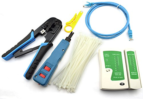 Maxmoral Network Tool Kit - Network Wire Impact Punch Down Tool, Cable Connectors Crimper Tool, Network Cable Tester Detector ,Network Wire Stripper,Cat6 RJ45 Ethernet Patch Cables,Nylon Cable Ties by Maxmoral (Image #7)