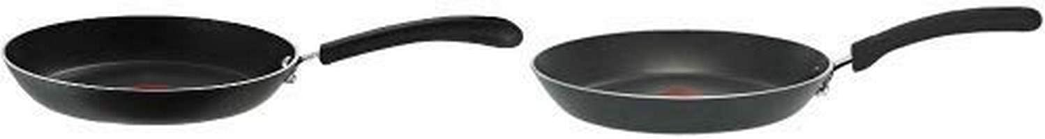 T-fal 2100086427 E93805 Professional Total Nonstick Thermo-Spot Heat Indicator Fry Pan, 10.25-Inch, Black AND T-fal E93802 Professional Total Nonstick Thermo-Spot Heat Indicator Fry Pan,Black