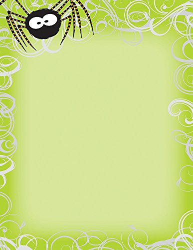 (Great Papers! Halloween Spider Swirls Letterhead and Printer Paper, Imprintable Stationery, 80 Sheets, 8.5