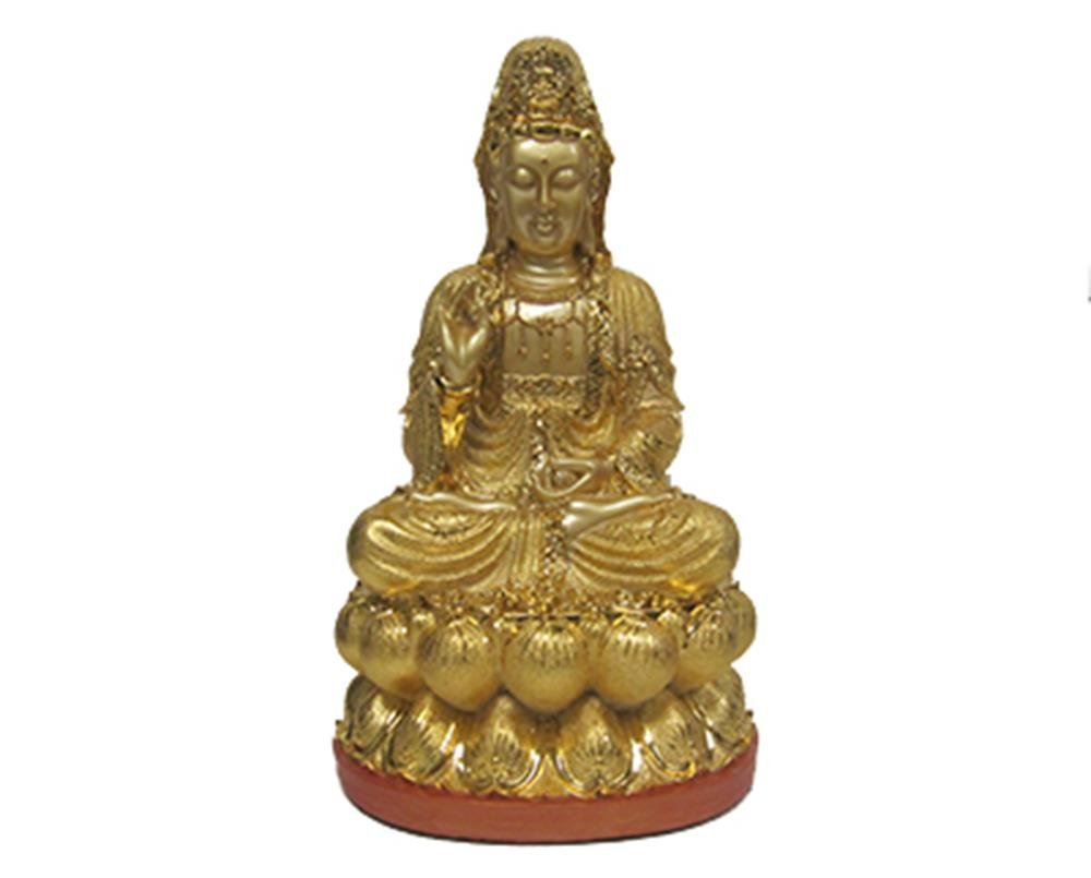 StealStreet SS-MU-LF959 19 Inch Gold Color Sitting Kwan Yin Figurine