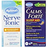 Hyland's Calms Forte Sleep Aid & Nerve Tonic Stress Relief Medicine Bundle, 300 Calms Forte Tablets & 500 Nerve Tonic Tablets