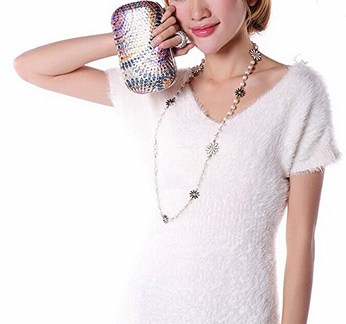 Purse STAR SNUG for Chain Women Evening Cocktail Rhinestone Clutch Detachable Handbag Evening Gold with xa0qIA