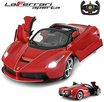 Rastar Ferngesteuertes Auto Ferrari Drifting Rc Auto 1 14 Ferrari Laferrari Aperta Cabrio Verdeck Offene Türen Funktionierende Lichter Amazon De Spielzeug
