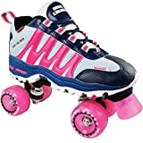 Pacer Roller Skates for Girls and Boys/Adults and Kids | Sonic Cruiser Unisex Mens and Womens Rollerskates for Ladies - Skates for an Adult or Kid - Indoor/Outdoor (Pink Men 5/Women 6)