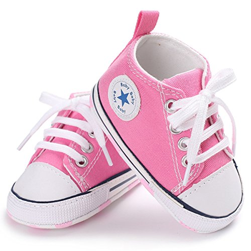 Tutoo Unisex Baby Boys Girls Soft Anti-Slip Sole Sneakers Newborn Infant First Walkers Canvas Denim Shoes - Walker Denim