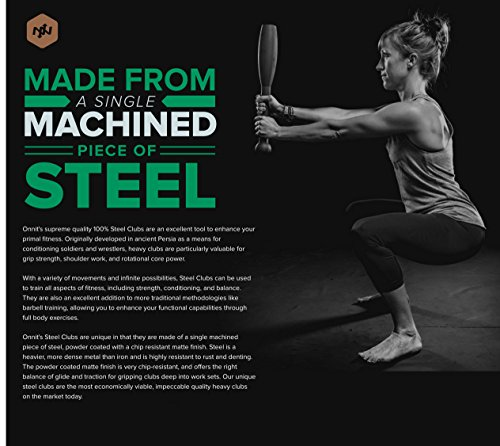 Onnit Steel Clubs Made from a Single Machined Piece of Steel