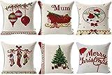 HOSL SD40 Merry Christmas Series Blend Linen Throw Pillow Case...
