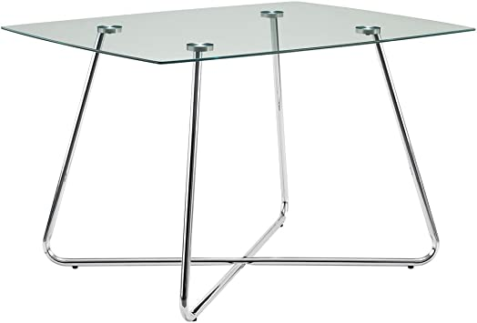 Monarch Specialties , Dining Table Chrome Metal Tempered 40 L