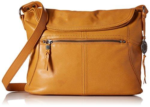 p Hobo Convertible Cross Body Bag,Ochre,One size (Flap Leather Handbag)