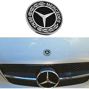 Amazon.com: Guzetop - Emblema de campana plana para Mercedes ...