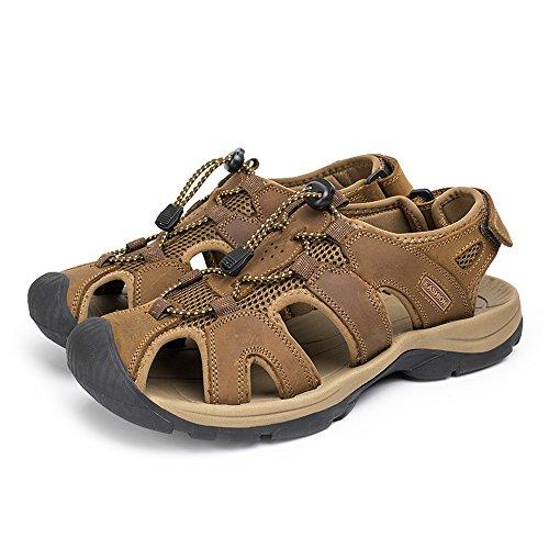 b5542c819c1db durable service YING LAN Men's Slip On Fisherman Sandal Summer ...