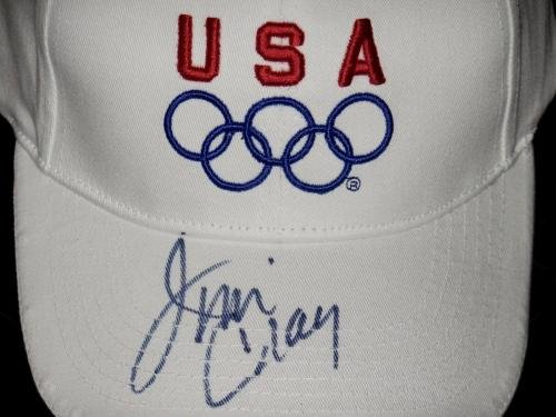 Jim Craig Autographed Usa Olympics Hat (1980 Us Hockey Team) W/Coa! Autographed NHL Hats