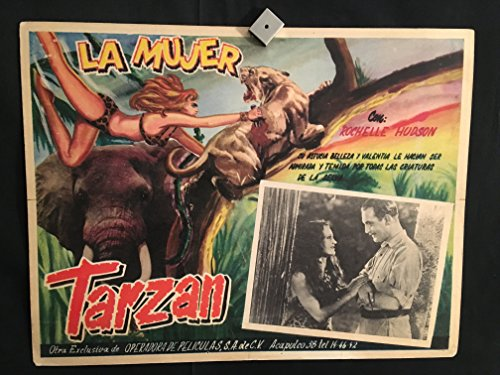 The Savage Girl 1932 Original Vintage Mexican Lobby Card Movie Poster, Tarzan, Rochelle Hudson