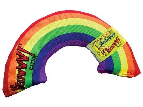 (2 Pack) Yeowww Catnip Toy, Rainbow 6''